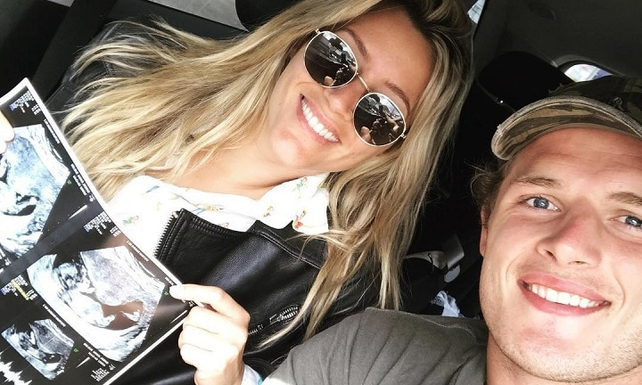 Baby news for George Burgess and wife Joanna