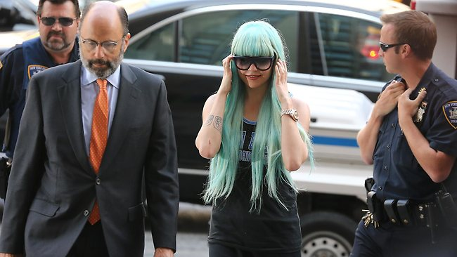 Amanda Bynes arrives at Manhattan Criminal Court. Bynes is facing charges of reckless endangerment, tampering with evidence and criminal possession of marijuana.