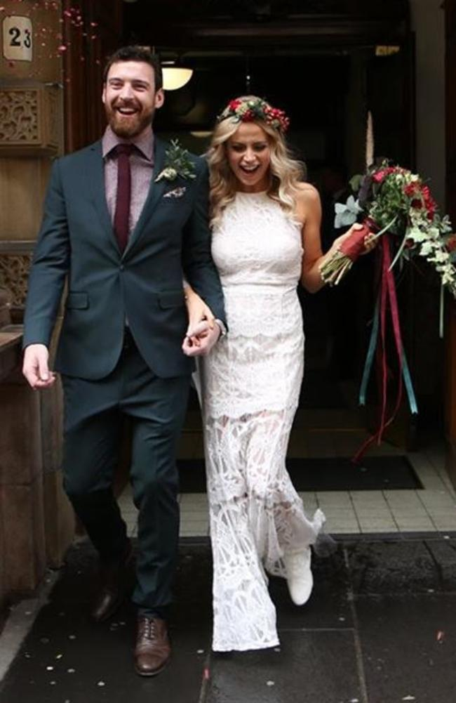 Emilyrose Fitzpatrick spend just $1600 on her wedding. Picture: Facebook/Emilyrose Fitzpatrick