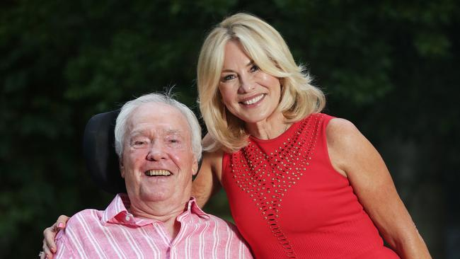 Kerri-Anne Kennerley and husband John at Chiswick's 5th Birthday Party held at Chiswick Restaurant; the eatery that is just around the corner from their home. Picture: Christian Gilles