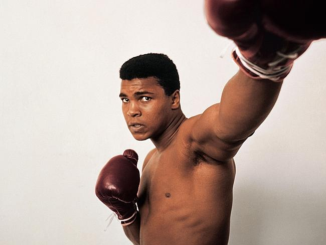 IN his heyday ... an image of Muhammad Ali from the book 'GOAT (Greatest Of All Time)' by Jeff Koons and Benedikt Taschen.