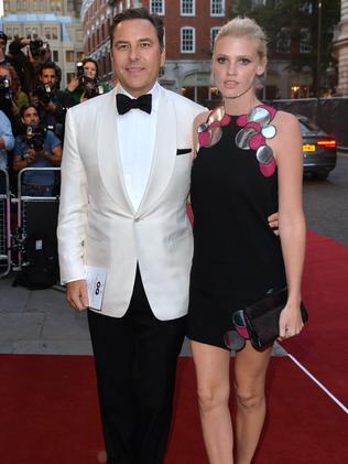 David Walliams and Lara Stone attend the GQ Men of the Year awards.