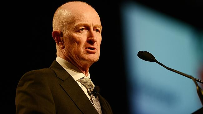 Reserve Bank Governor Glenn Stevens addresses yesterday's luncheon in Brisbane. Pic: Stuart Quinn
