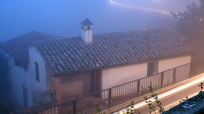 Death scene... The house in Perugia where Meredith Kercher was killed. Picture: Franco Origlia