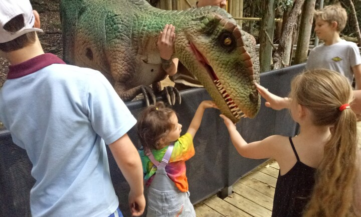 Your child can pat a dinosaur in the Blue Mountains, yes really