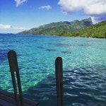 """View from our amazing over water bungalow at Hilton Moorea Lagoon Resort and Spa."" Picture: commandosteve/Instagram"