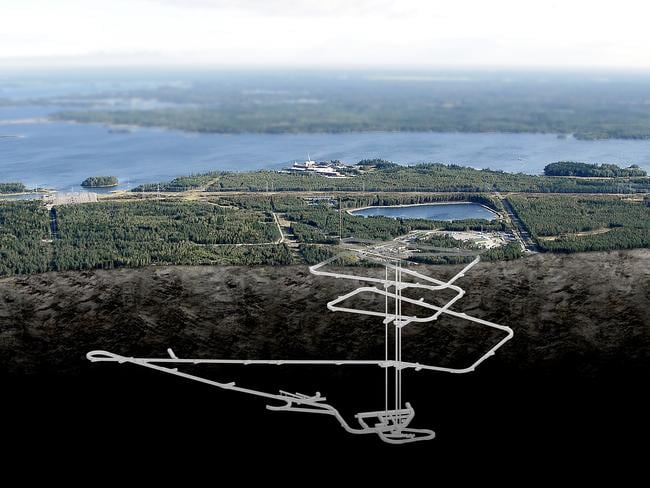 Diagram of underground storage that will snake down to a depth of 450 metres. Picture: Posiva Oy