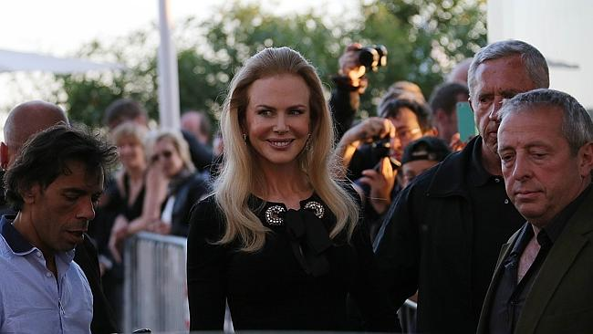 Cetnre of attention ... Kidman's appearance was the talk of Twitter.