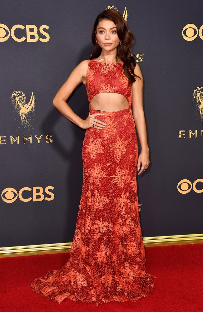 Sarah Hyland attends the 69th Annual Primetime Emmy Awards at Microsoft Theater on September 17, 2017 in Los Angeles. Picture: Getty
