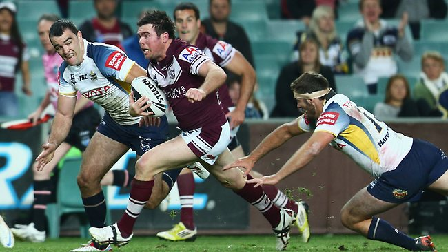 Jamie Lyon in action for the Eagles on Friday night. Picture: Getty Images