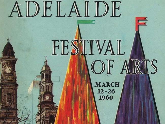 The first poster for the Adelaide Festival of Arts, March 12th to 26th 1960. Source: Adelaide Festival.