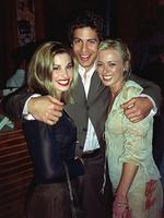 (L-R) Actors Brooke Satchwell, Don Hany & Jodie Dry at series launch of TV show White Collar Blue