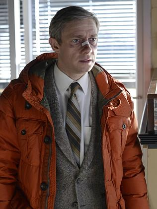 Martin Freeman plays Lester Nygaard, a mild-mannered insurance salesman pushed to acts of