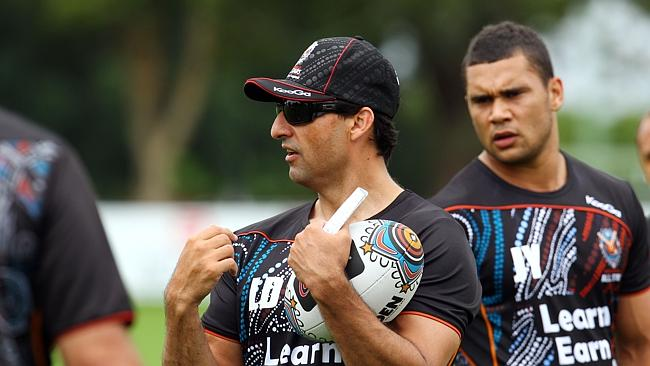 Laurie Daley will coach a team of young Indigenous stars who will take on the Knights in a trial match.