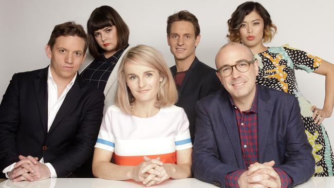 The Checkout's Ben Jenkins, Zoë Norton Lodge, Kirsten Drysdale, Craig Reucassel, Julian Morrow and Alex Lee. The Checkout returns tonight at 8pm on ABC1.