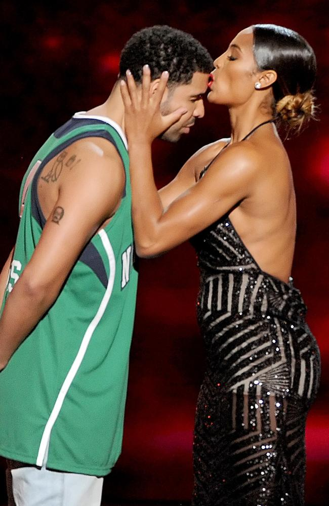 ESPYs host and rapper Drake with WNBA player Skylar Diggins.