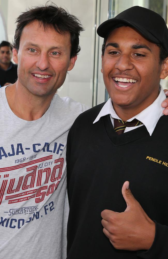 Laurie Daley was also a popular target for fans.