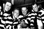Geelong stars Bob Davis, Bernie Smith, Reg Hickey and Russell Renfrey in 1956.