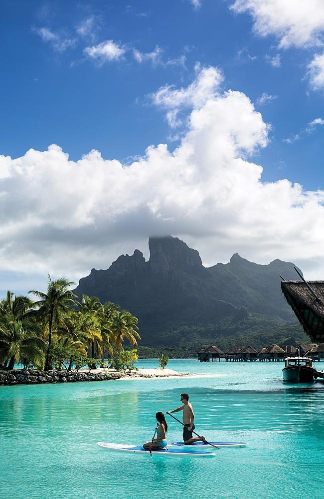 Boring Boring? Just kidding. The spectacular Four Seasons Bora Bora resort. Picture: Four
