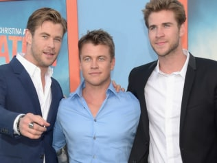 Chris, Luke and Liam Hemsworth. Photo: Getty