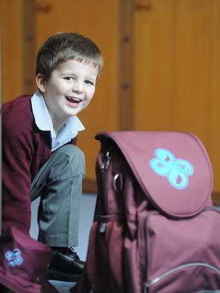 Young Mitchell is looking forward to starting school after the holidays, at one of his region's independent schools. Picture: Keryn Stevens.