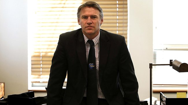 Independent MP Rob Oakeshott in his office at Parliament House in Canberra. Picture: Kym Smith