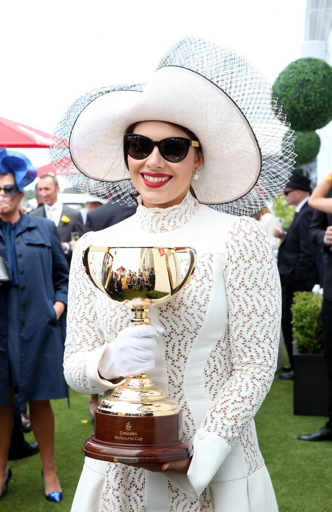 Francesca Barham Packer pictured at The Birdcage at Flemington Racecourse. Picture: Richard Dobson