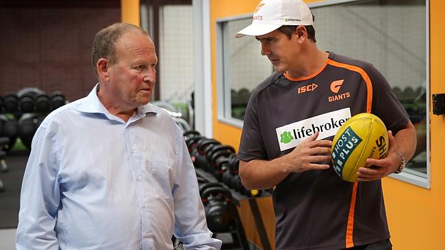 Phil Rothfield talks with Leon Cameron. Picture: Gregg Porteous