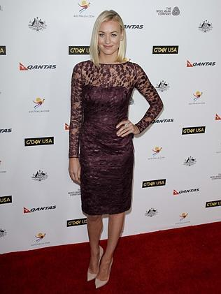 Aussie actress and Dexter star Yvonne Strahovski was a vision in lace.