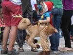 Ollie,3, Manningham dressed for the occasion. Photo AAP Image/Dean Martin