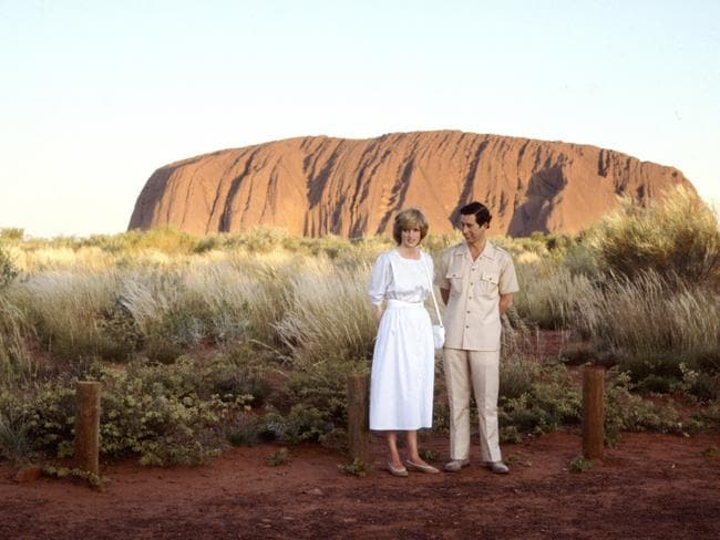 The Prince of Wales And Diana at Uluru.