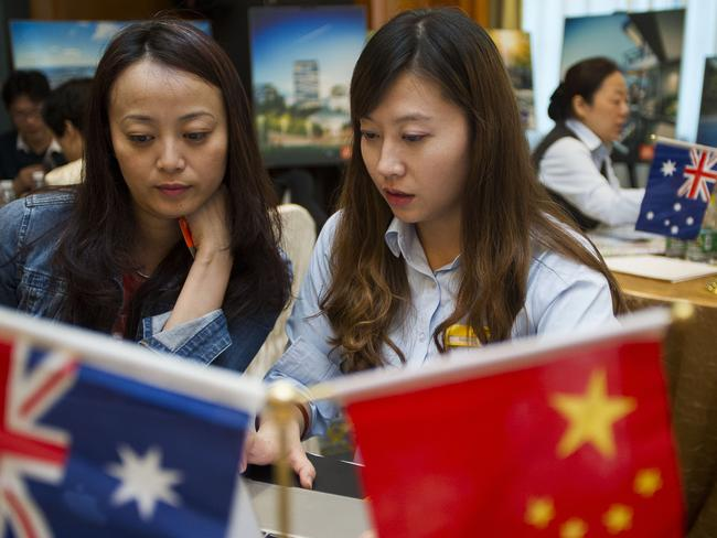 Property developers target Chinese investors in Shanghai.