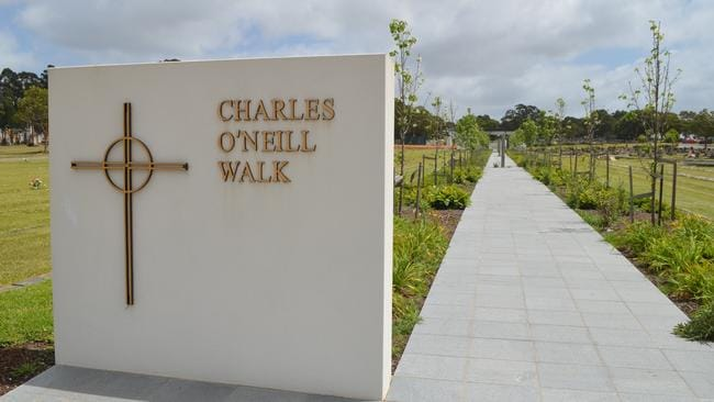 Two men who were long term residents at a Sydney homeless shelter were cremated and buried together on the new 'Charles O'Neill Walk' in the St Vincent's de Paul Society section of the cemetery earlier this year. Picture: news.com.au