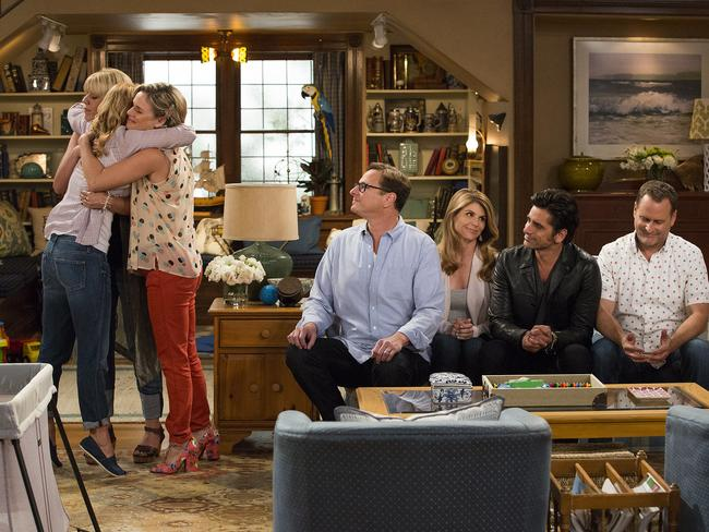 Inside the new Fuller House set.