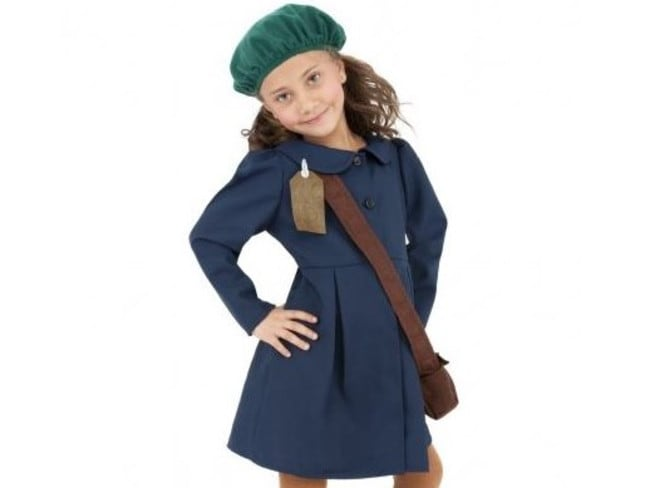 An Anne Frank Halloween costume for kids has caused outrage online. Picture: Halloweencostumes.com
