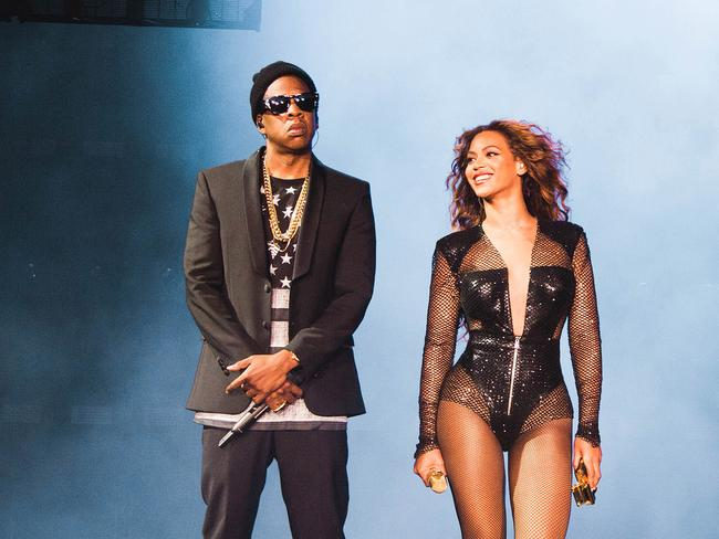 Affair rumours ... JaY Z and Beyoncé perform on the On The Run Tour.