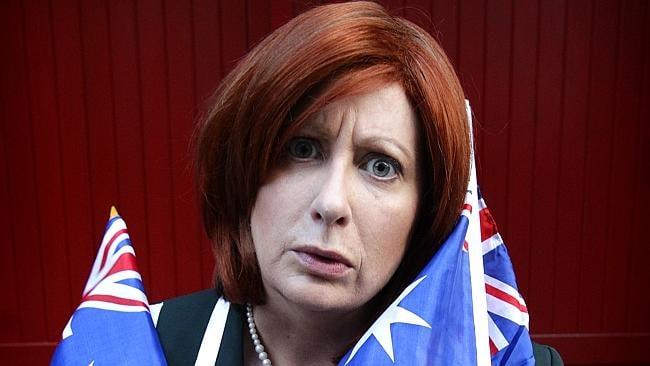 Millgate as Julia Gillard.