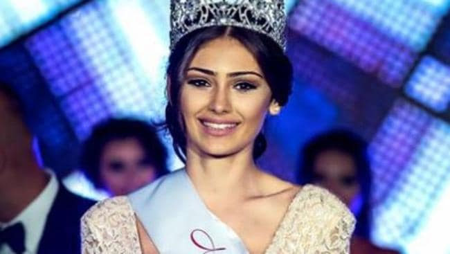 Najah Ghamrawi at the 2016 Miss Lebanon Emigrant Australia contest. Picture: Facebook/Rizzography