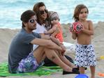 Kourtney Kardashian and her family at a beach in Bal Harbour Florida, north of Miami Beach on November 26, 2012. Picture: Splash