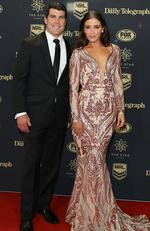 Michael Ennis and Simone Ennis arrive ahead of the 2017 Dally M Awards at The Star on September 27, 2017 in Sydney, Australia. Picture: Mark Metcalfe/Getty Images