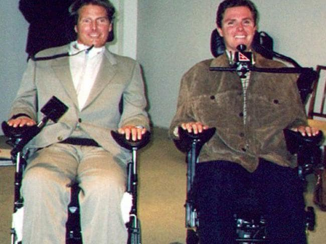 Perry Cross met Hollywood actor Christopher Reeve in 1997.
