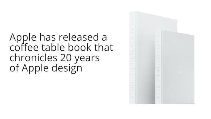 Apple coffee table book Designed by Apple in California costs 429