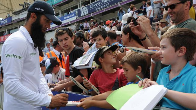 Moeen Ali is a hit with the fans.
