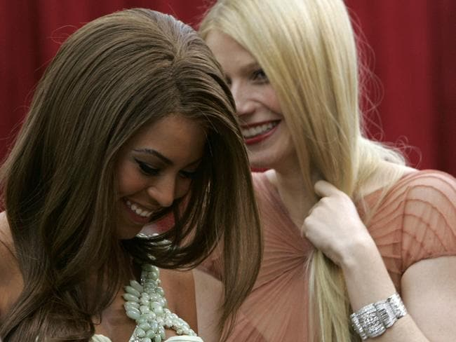 """Great friends"" ... Beyonce and Gwyneth Paltrow at the Academy Awards in 2007."