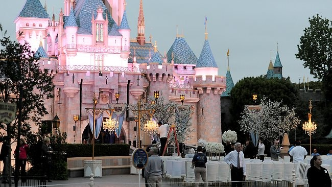 Mariah Carey and husband Nick Cannon close down Disneyland to renew their vows. Picture: Splash News