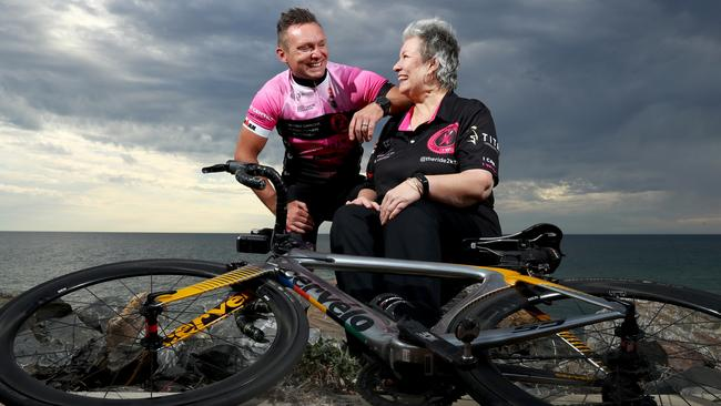 Triathlon veteran Wade Burns, also a Chief Inspector with SAPOL, will join forces with a fellow indurance race enthusiast to embark on their most gruelling challenge yet - they will ride 2700km from Adelaide to Port Macquarie before competing in Ironman Australia two days later. Wade's inspiration is his mother-in-law Necia Simmons, who was diagnosed with breast cancer last year.