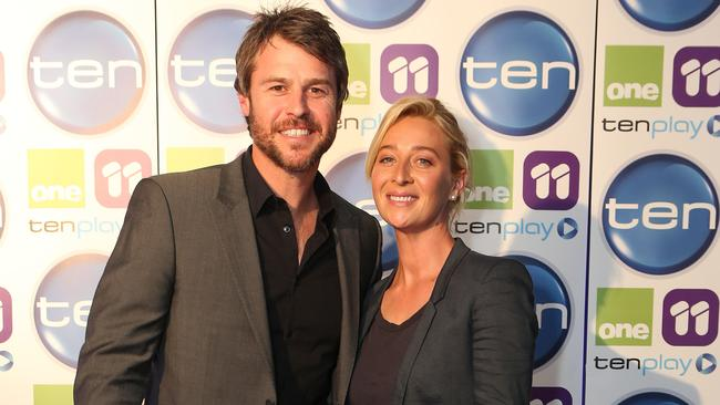 New political drama ... Rodger Corser and Asher Keddie. Picture: Julie Kiriacoudis
