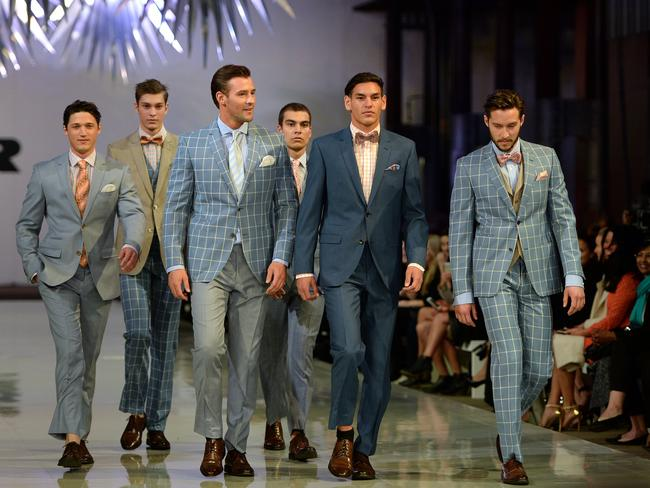Kris Smith models the latest look for men from Dom Bagnato for the 2015 Myer Spring-Summer launch.