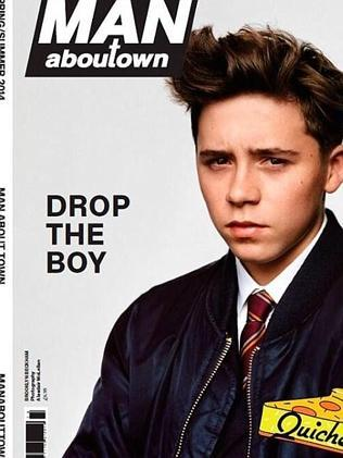 Credit: Man About Town Brooklyn Beckham has appeared on the front cover of UK Magazine Man About Town.