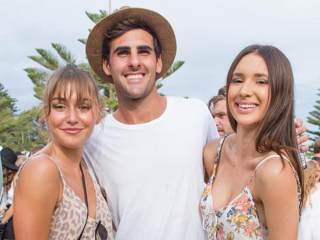 Laura Heshall, Ricky Fontanna and Annie Debney enjoy the inaugural Corona SunSets Festival in Fremantle. Picture: Supplied.